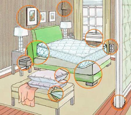 Живут ли клопы в подушках и одеялах, чем обработать постельное бельё?